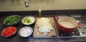 Squid Stew Mise en Place