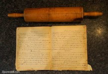 Grandmamans Recipe and Rolling Pin