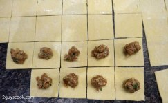 Manti Dough Squares with Meat