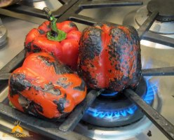 Charring Peppers Burner