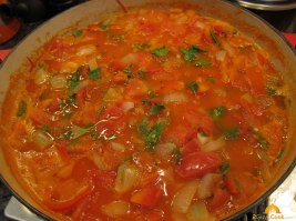 Cooked Soup Vegetables